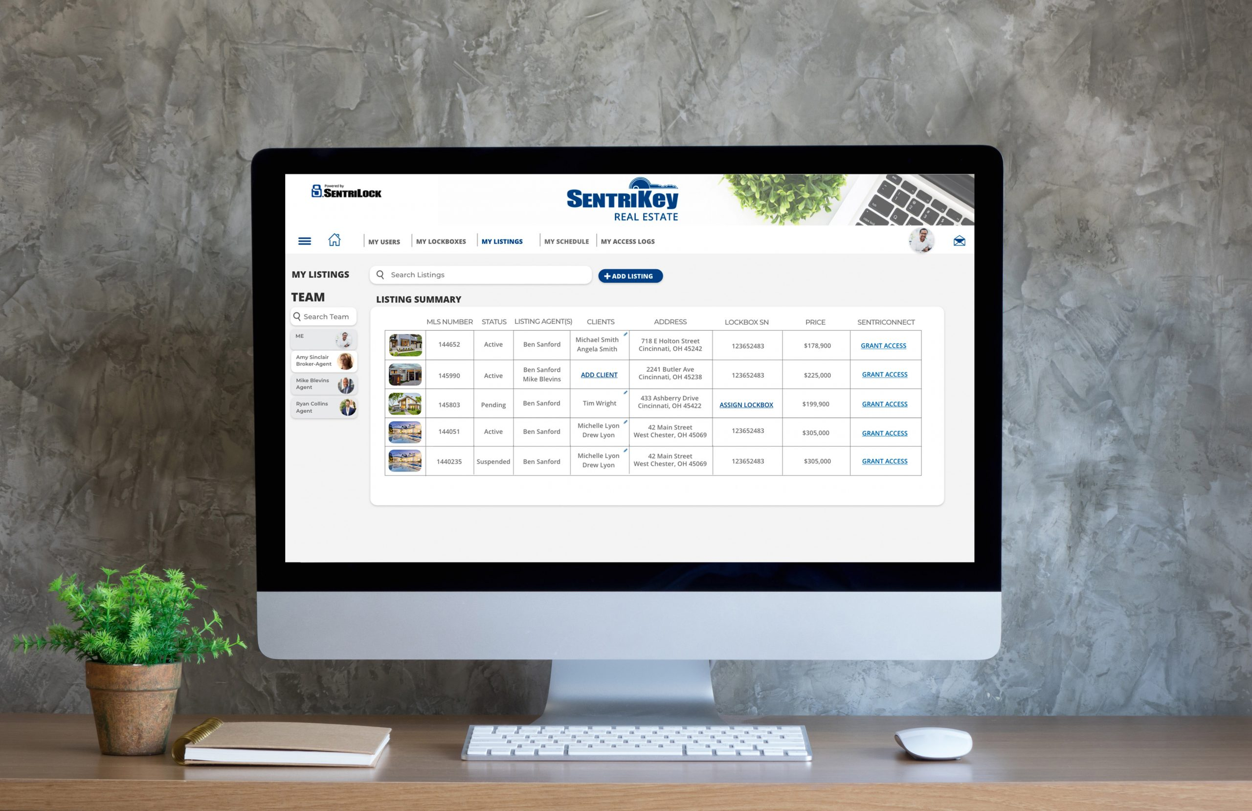 SentriKey Real Estate Website image[1]