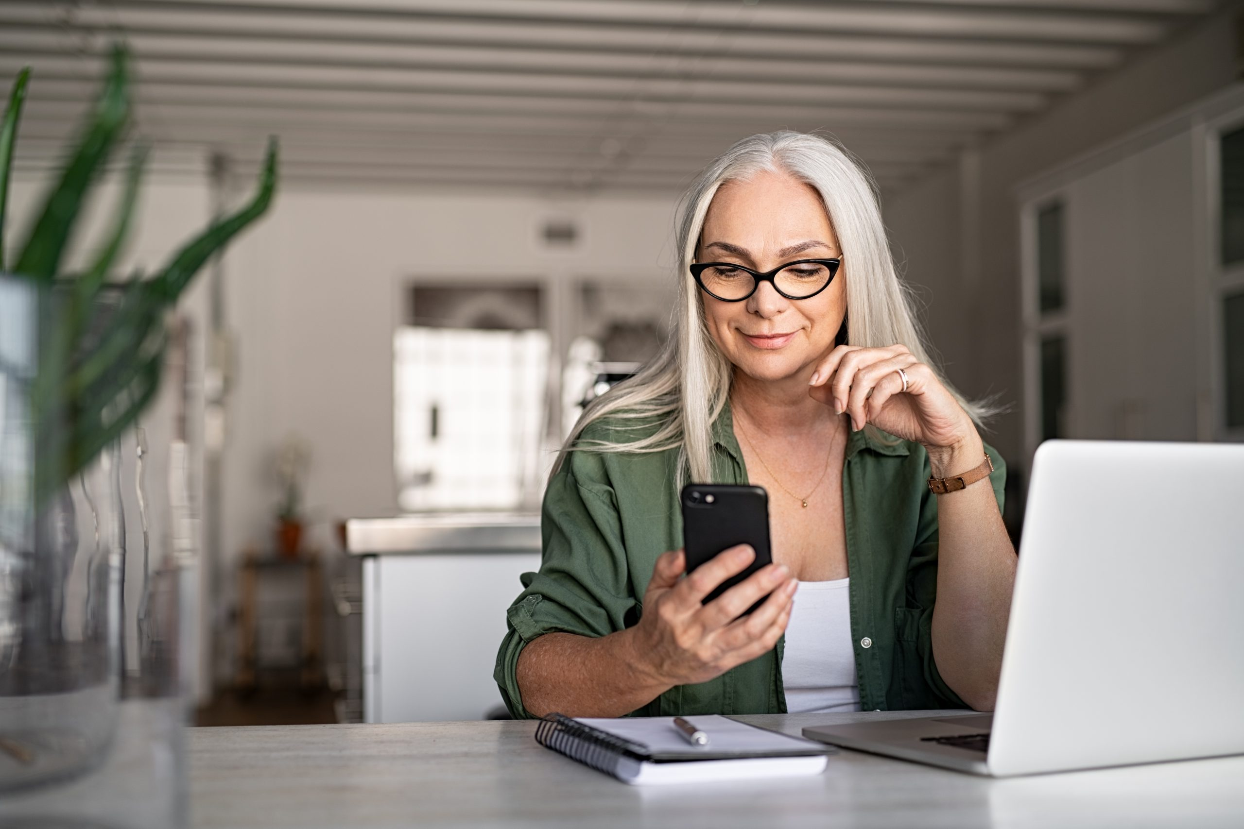 lady on phone image